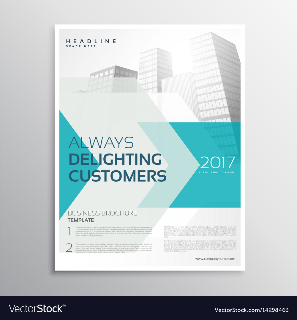 Business brochure leaflet template with arrow and vector image flashek Gallery