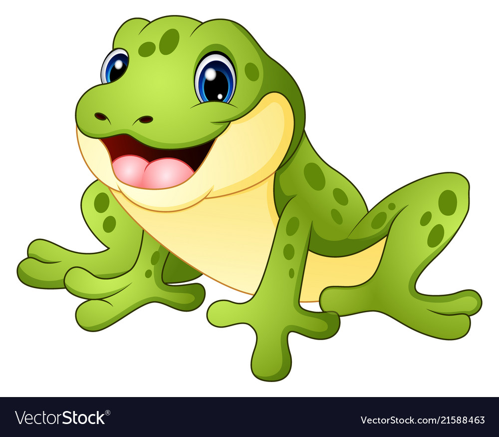 Cartoon funny frog