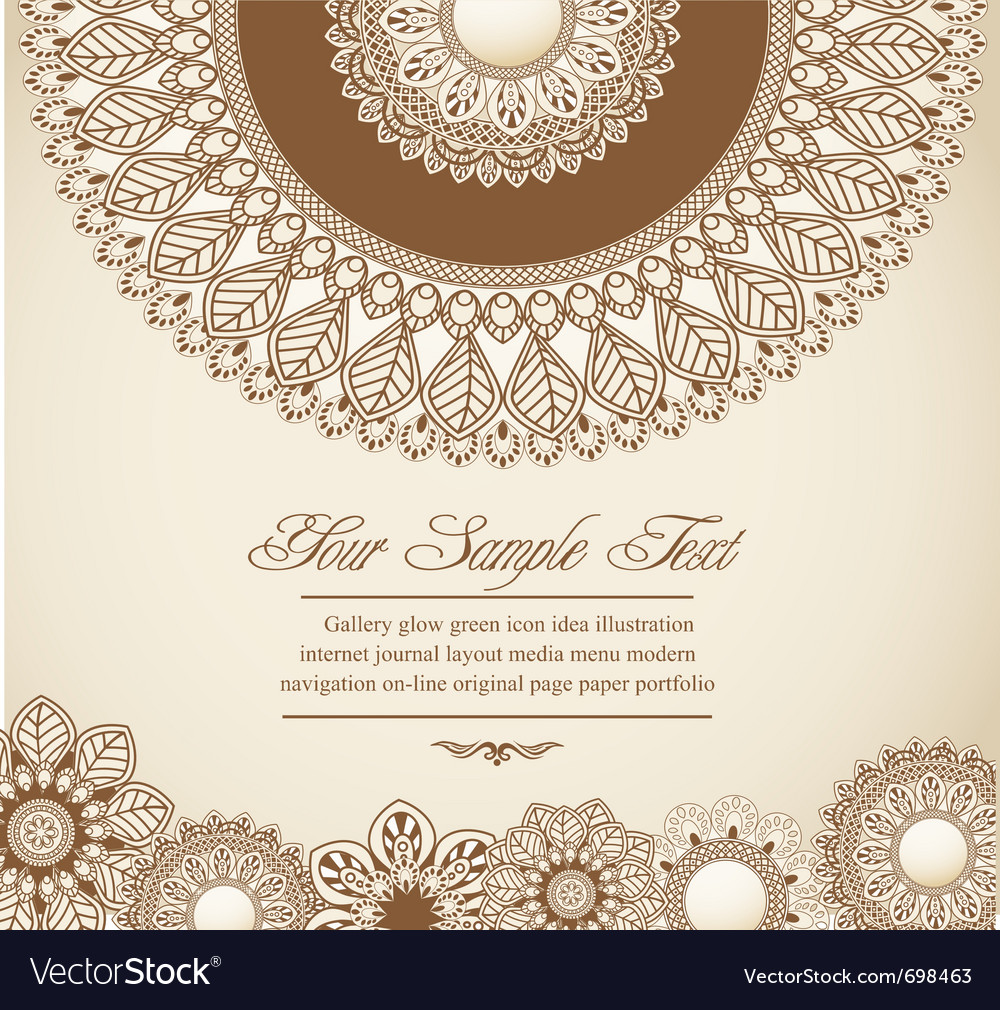 Hand-drawn flowers vector image