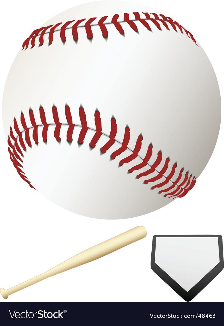 Major league baseball elements vector image