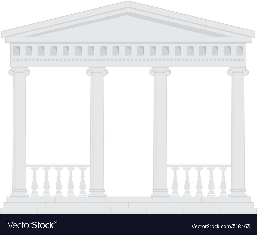 Portico vector image
