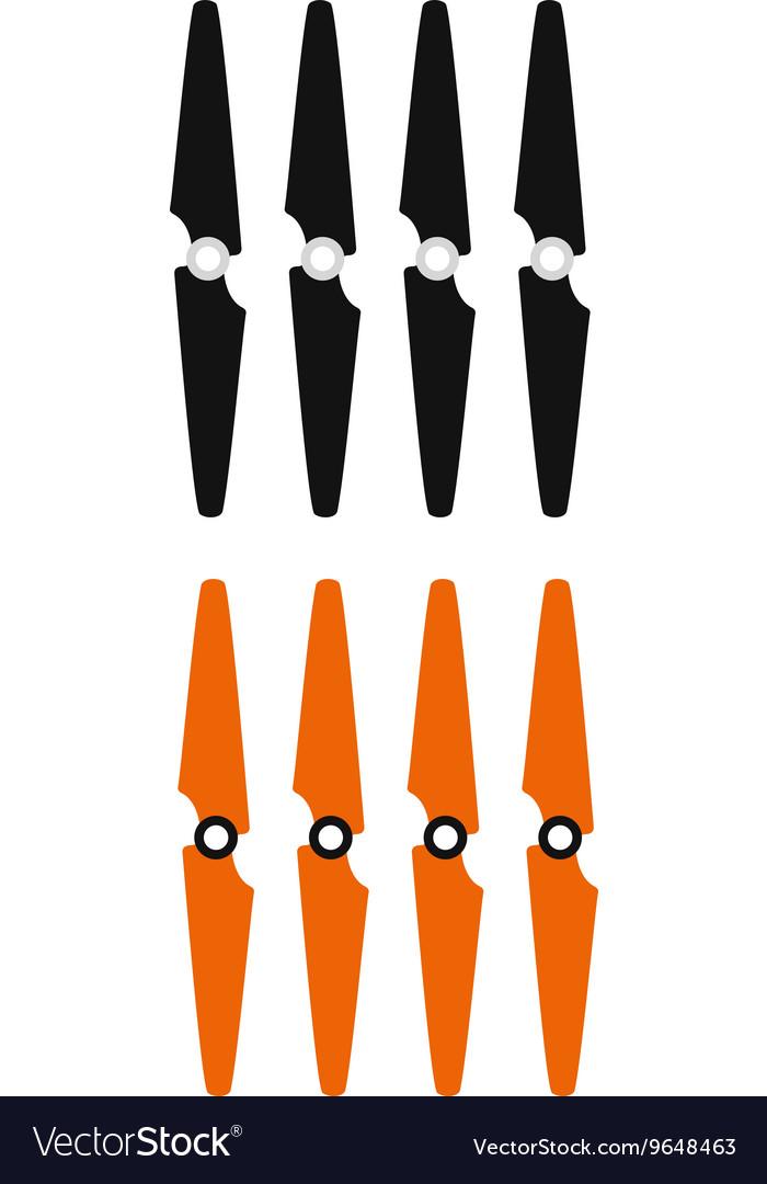 Propeller set vector image