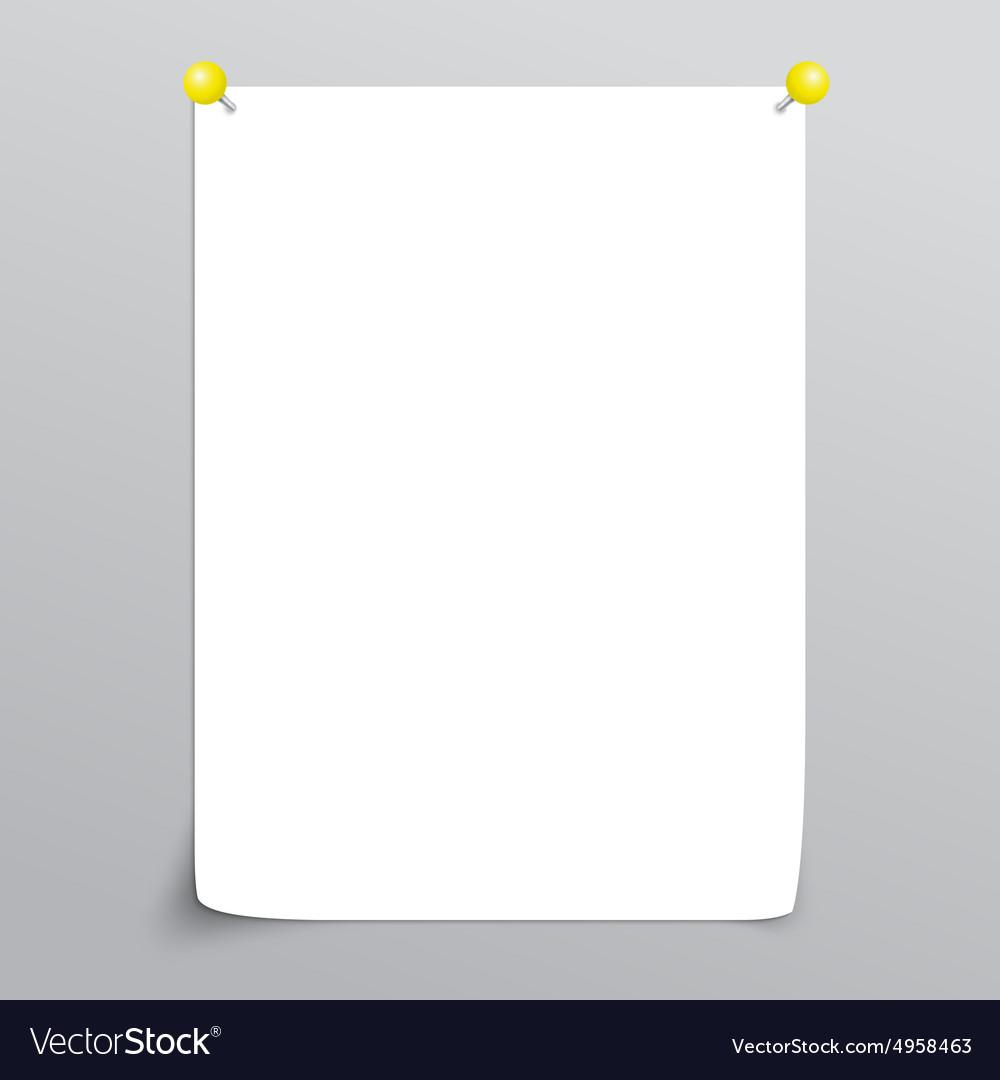 White Empty paper sheet