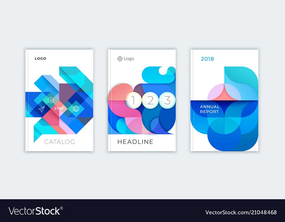 Abstract cover design business brochure template