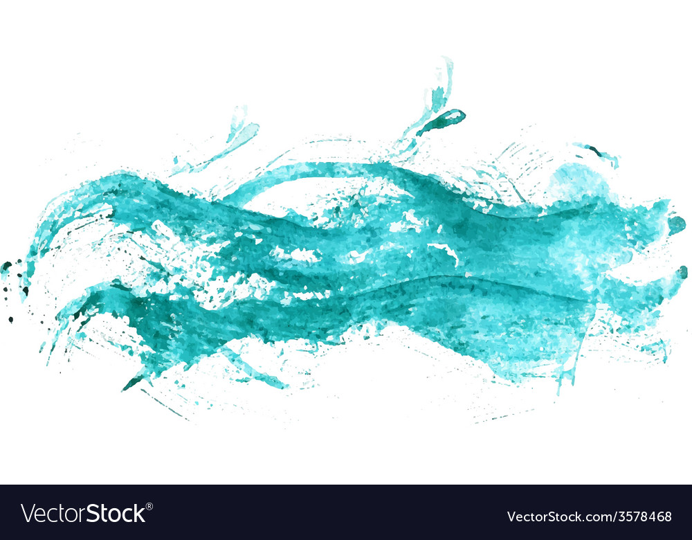 Abstract watercolor sea vector image