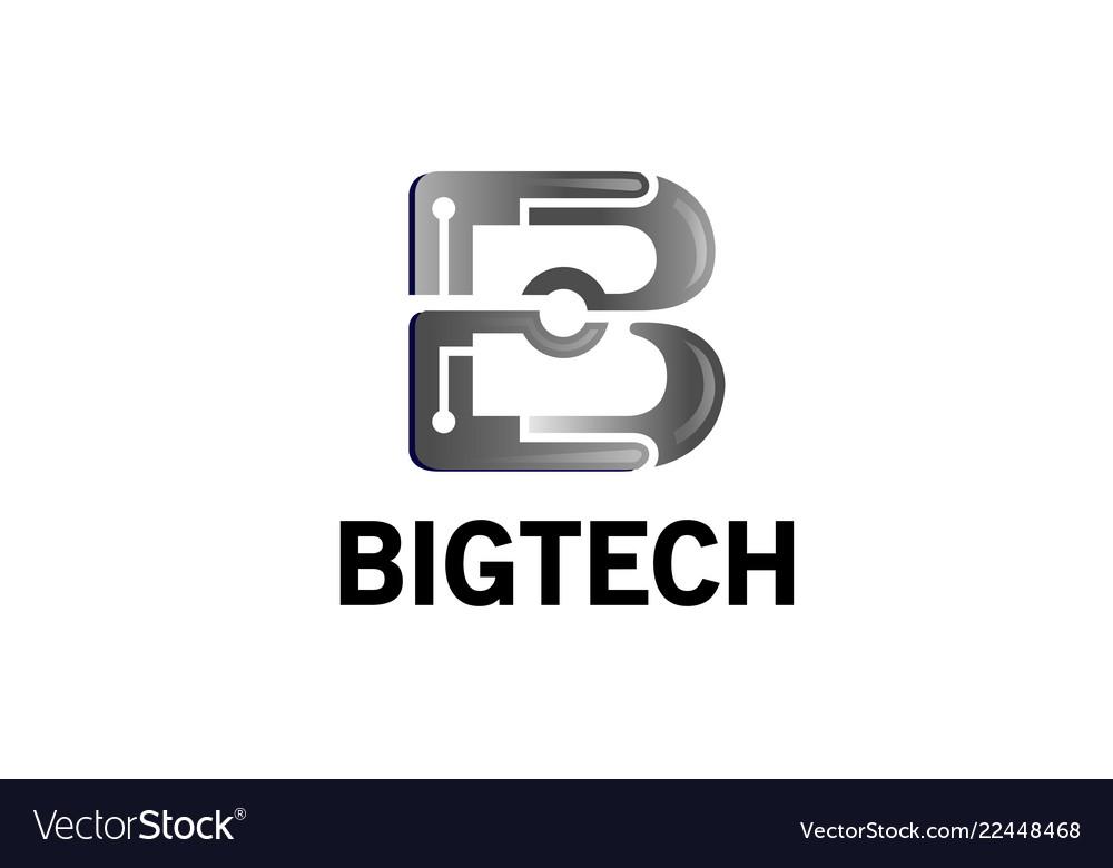 Creative silver b letter logo
