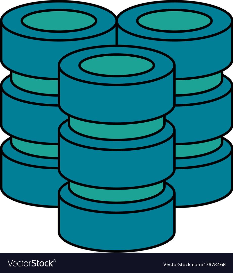 Databases data center icon image