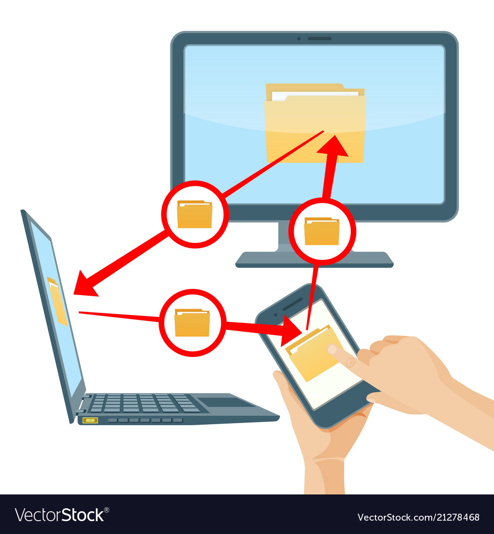File sharing between smartphone laptop and