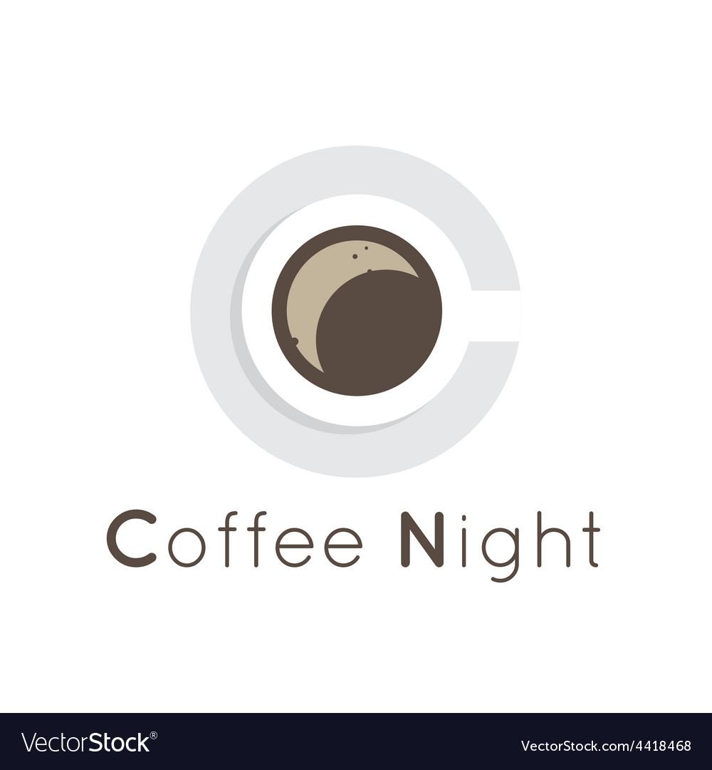 Flat coffee shop cafe or restaurant logo