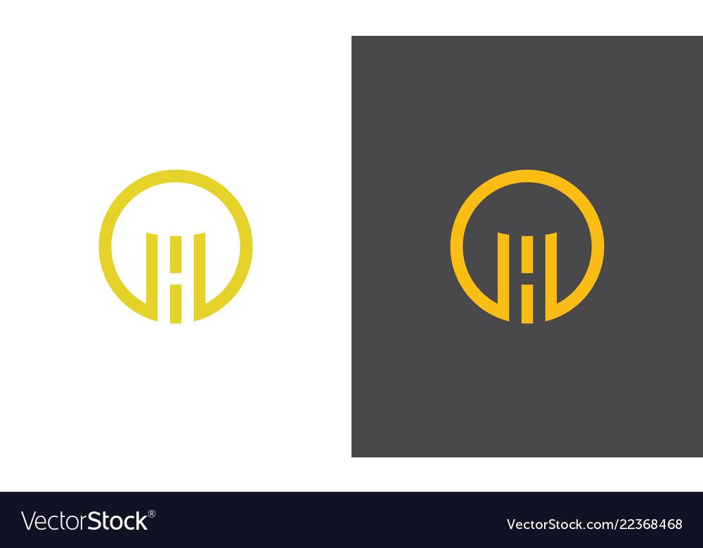 Round letter h logo