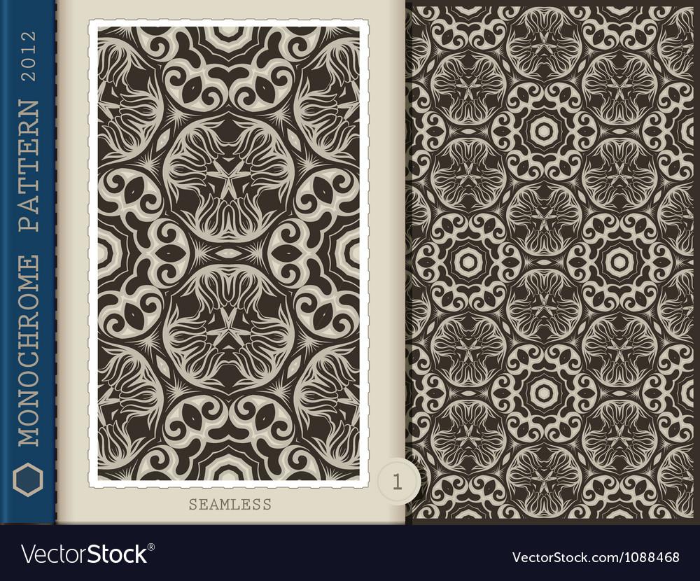 Seamless Pattern Monochrome vector image