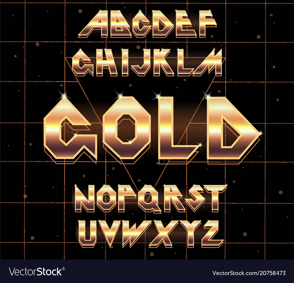 80 s retro alphabet font