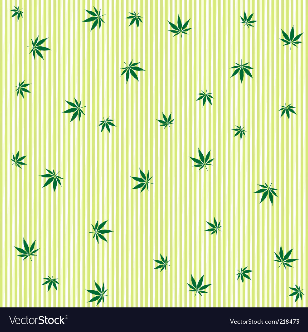 Cannabis wallpaper vector image