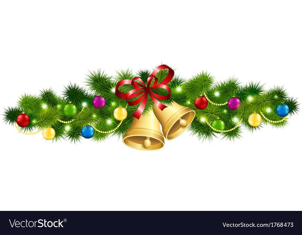 Christmas fir garland