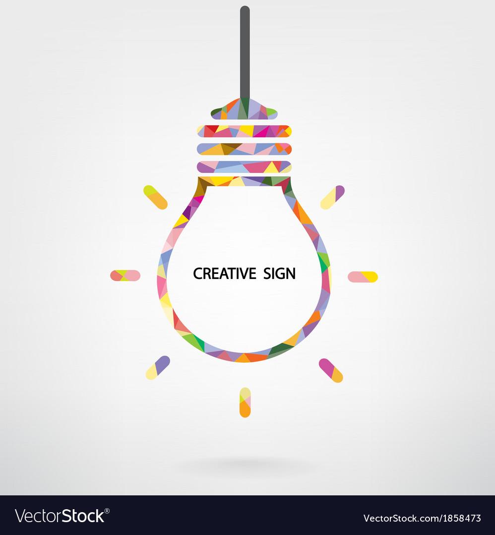 Creative light bulb Idea sign
