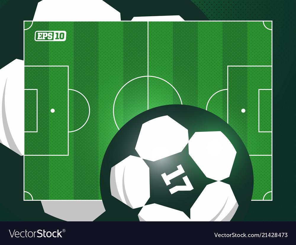 Modern professional grass football soccer