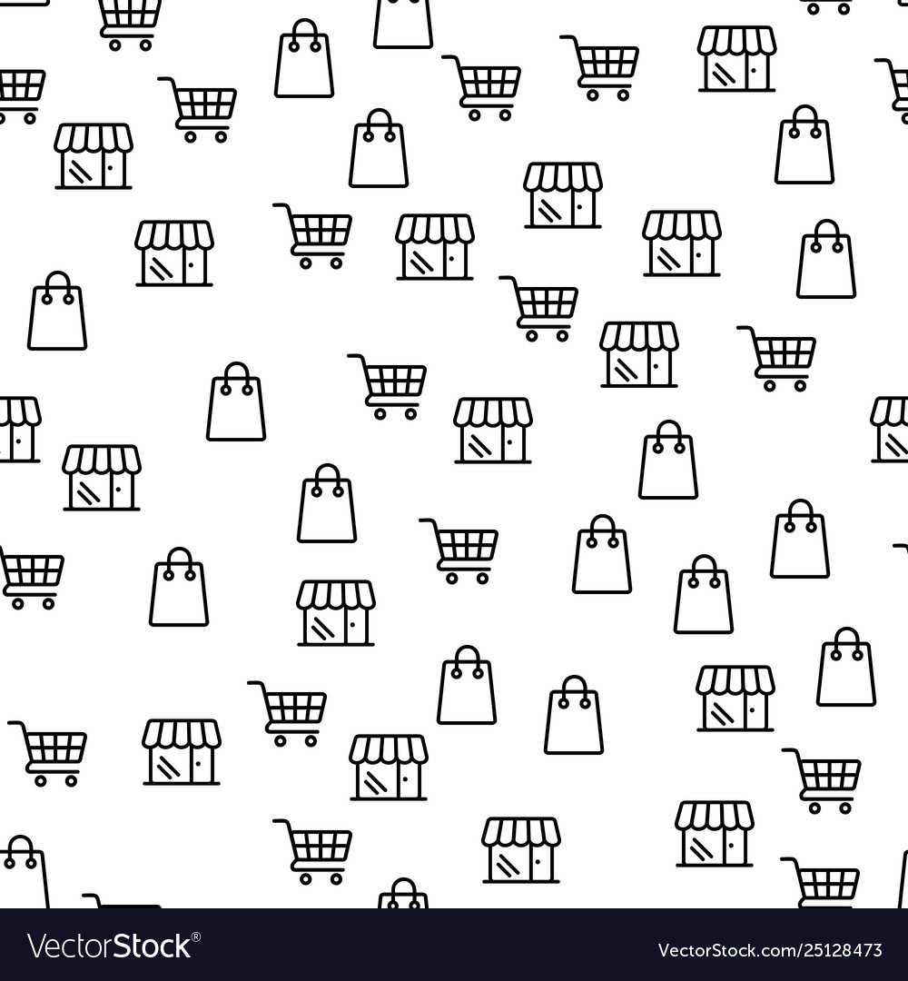 Online shop offer large discounts seamless pattern