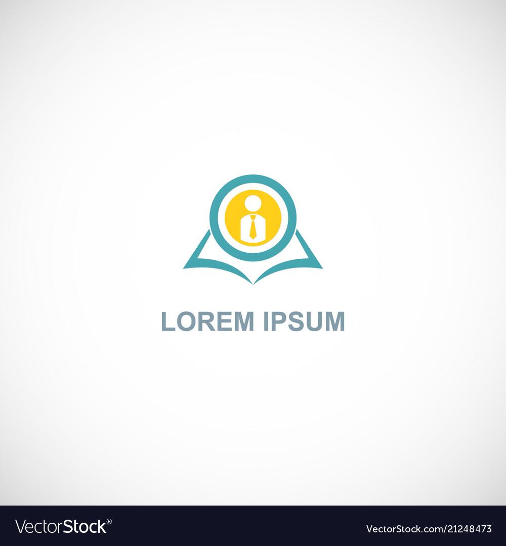 Open book student school logo