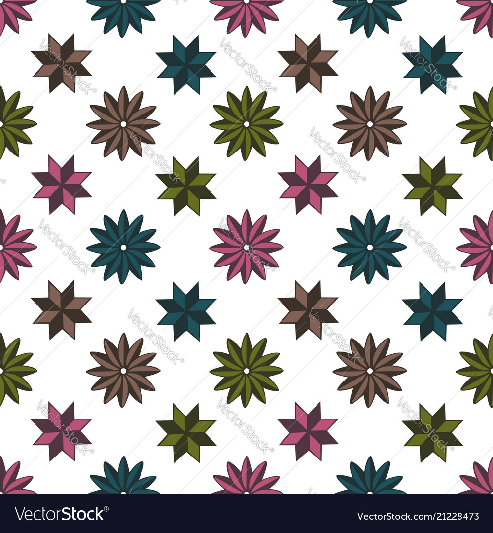 Pattern shape star background