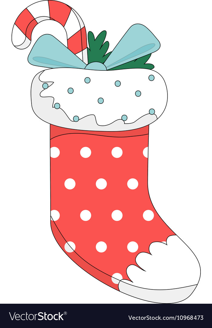 Red christmas boot vector image