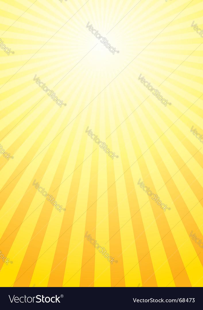 Shining sun background vector image
