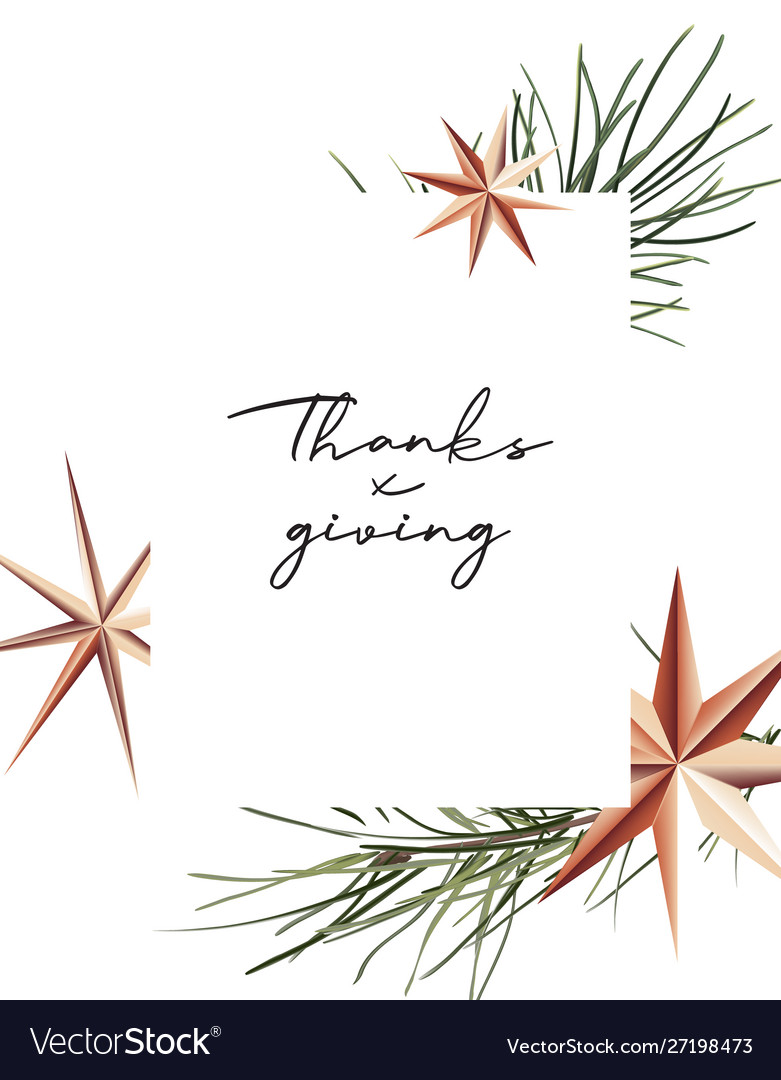 Thanksgiving poster with gold foil sparkle stars