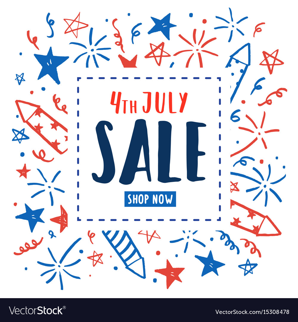4th of july sale independence day flyer
