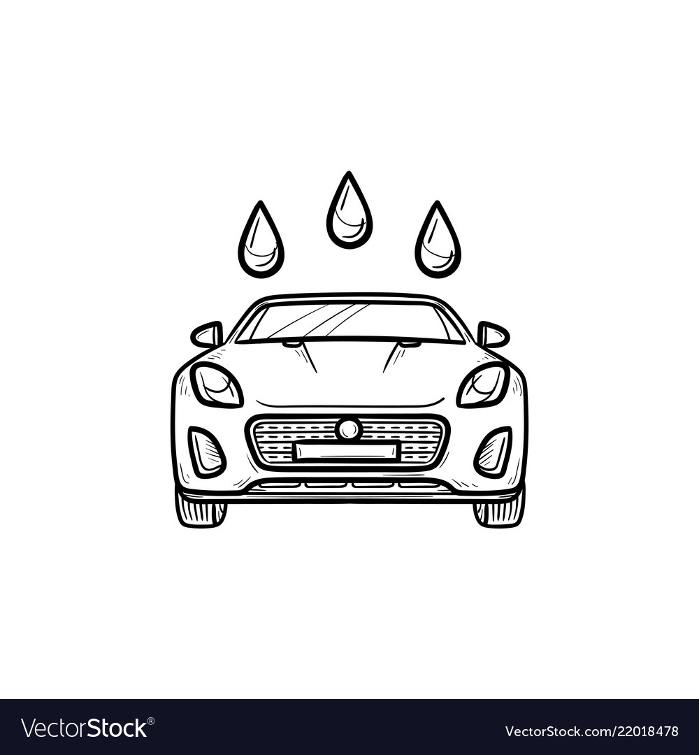 Car wash hand drawn outline doodle icon