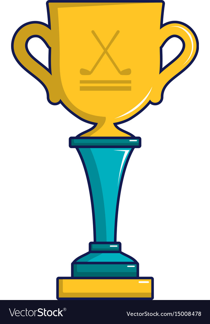 Golf Cup Winner Gold Icon Cartoon Style Royalty Free Vector