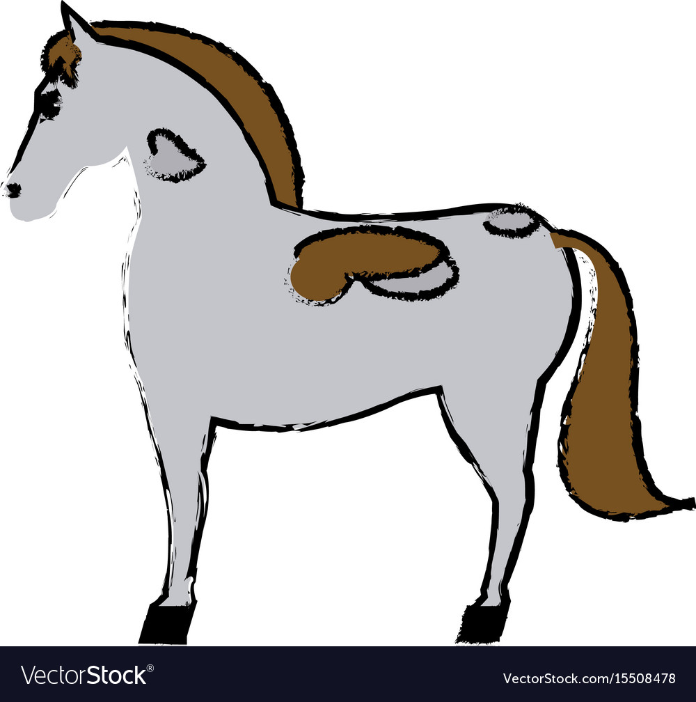 Horse mammal farm domestic animal icon