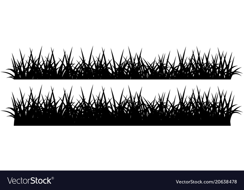 silhouette of grass black on white royalty free vector image vectorstock