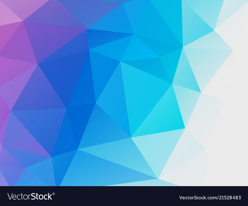 Abstract Blue Purple Low Poly Background