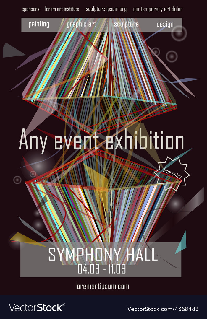 any event exhibition poster template design vector image