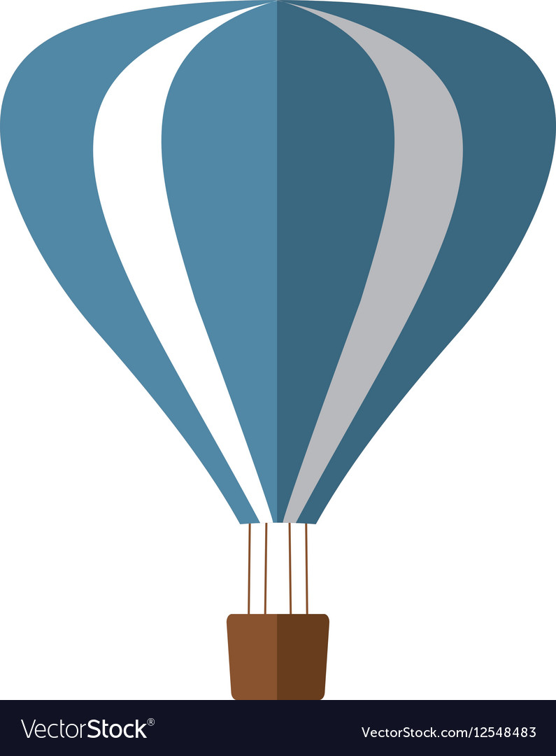 Blue and white airballoon recreation vacation vector image