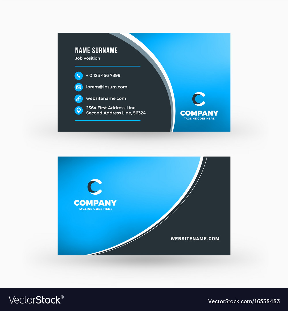 Creative and clean double sided business card vector image colourmoves