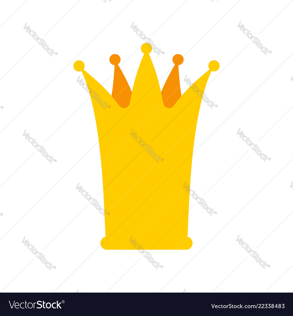 Crown princess isolated little golden cap