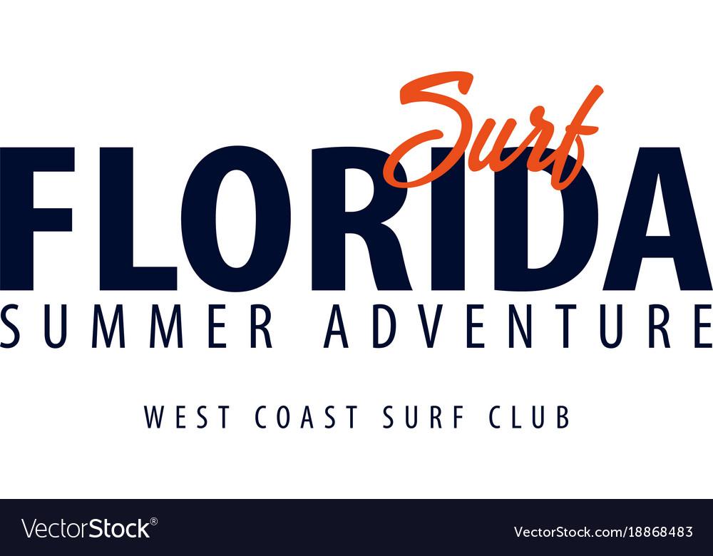 Florida surfing emblem or logo vector image