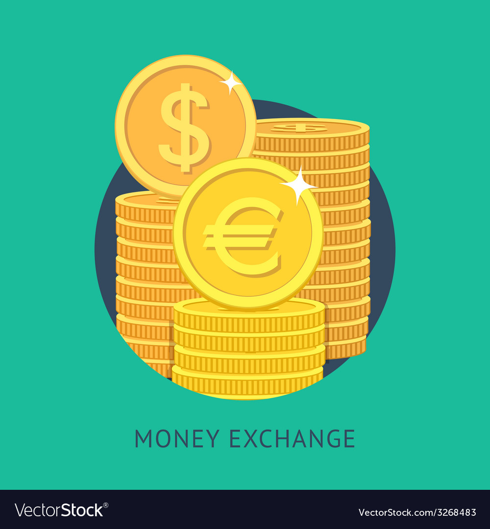 Money Exchange Royalty Free Vector