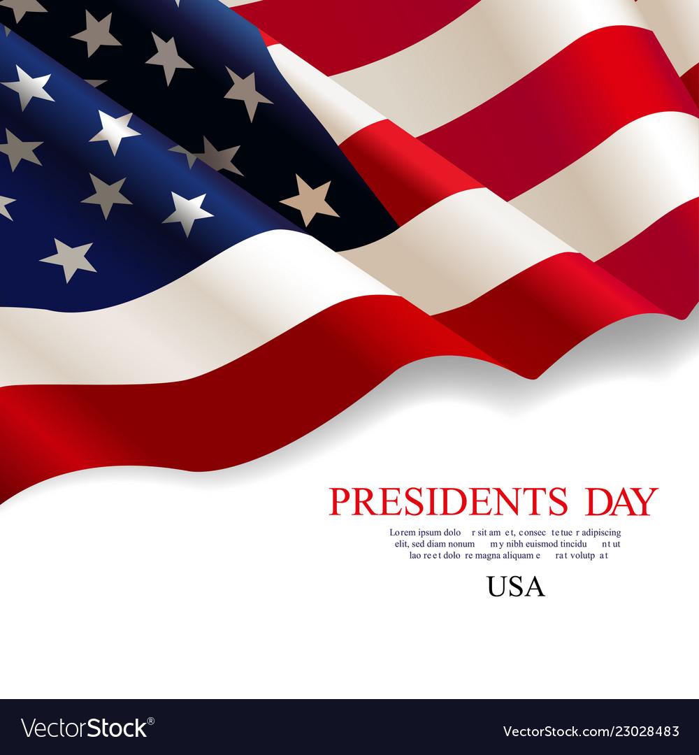 Presidents day flag usa