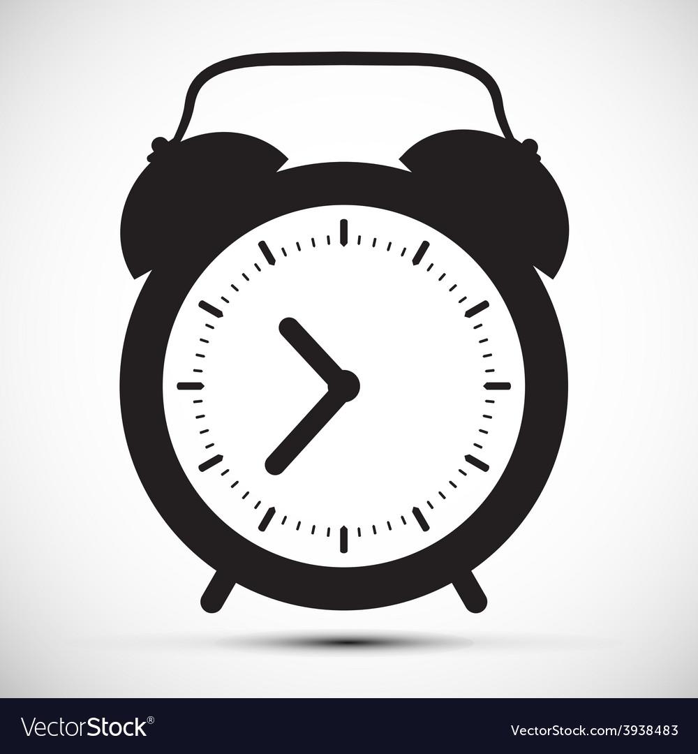 Simple Flat Design Alarm Clock Icon