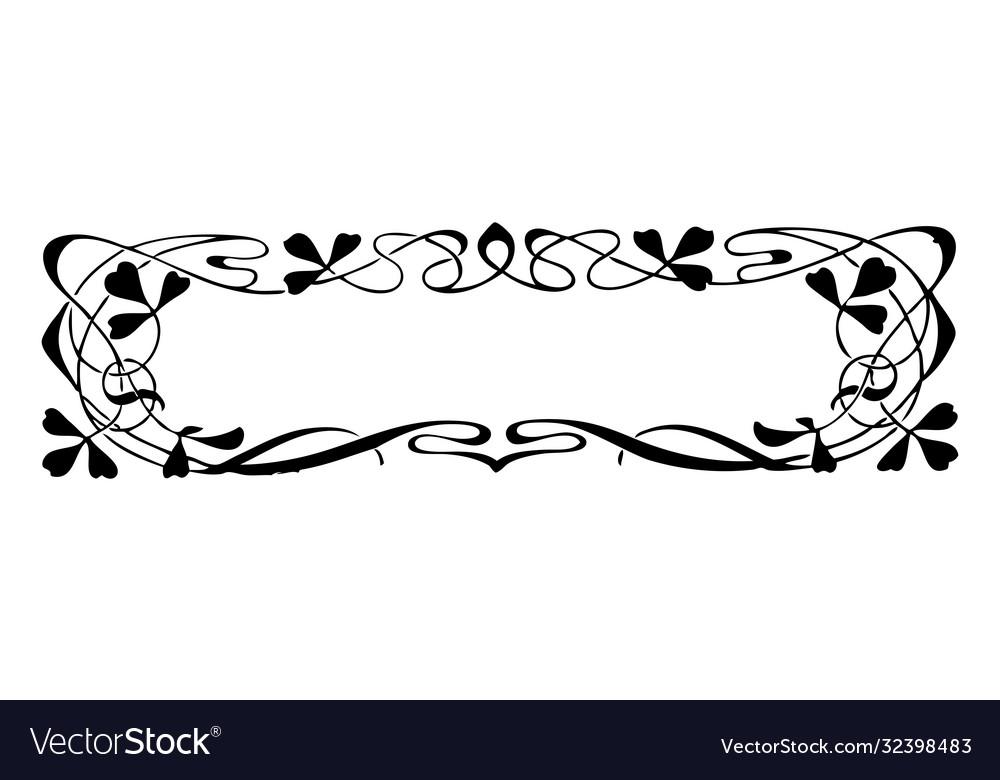 Vintage engraving style floral frame