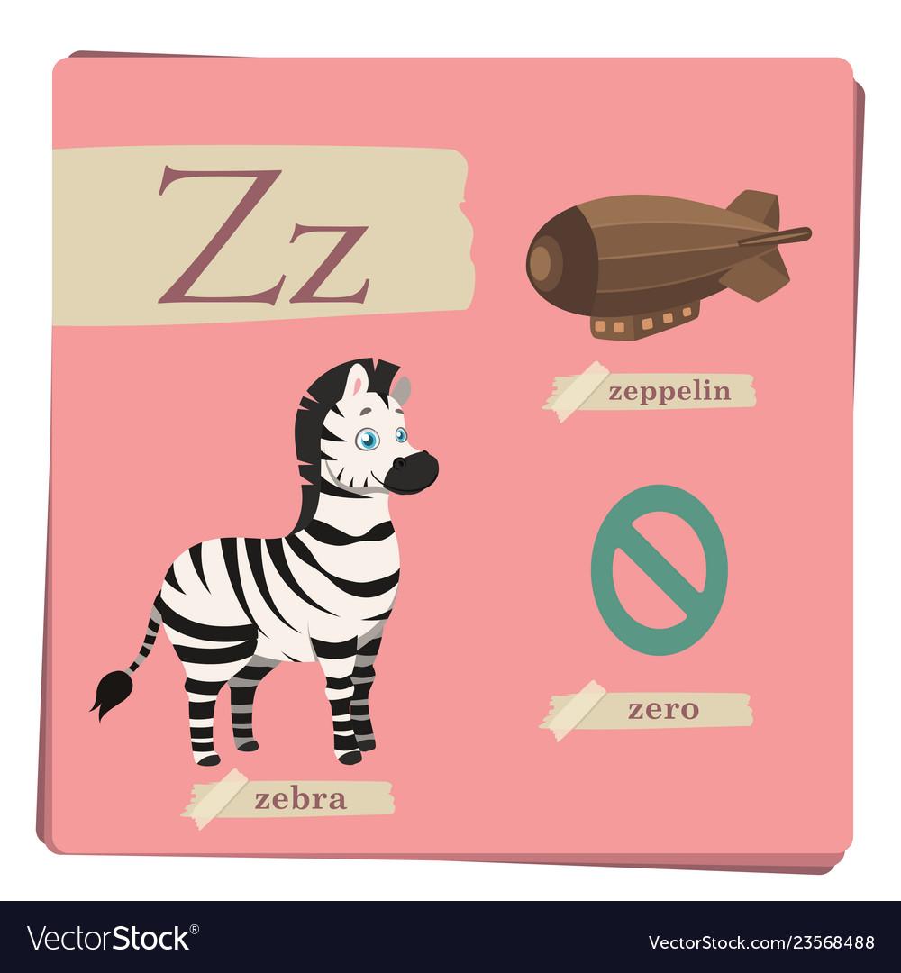 Colorful alphabet for kids - letter z