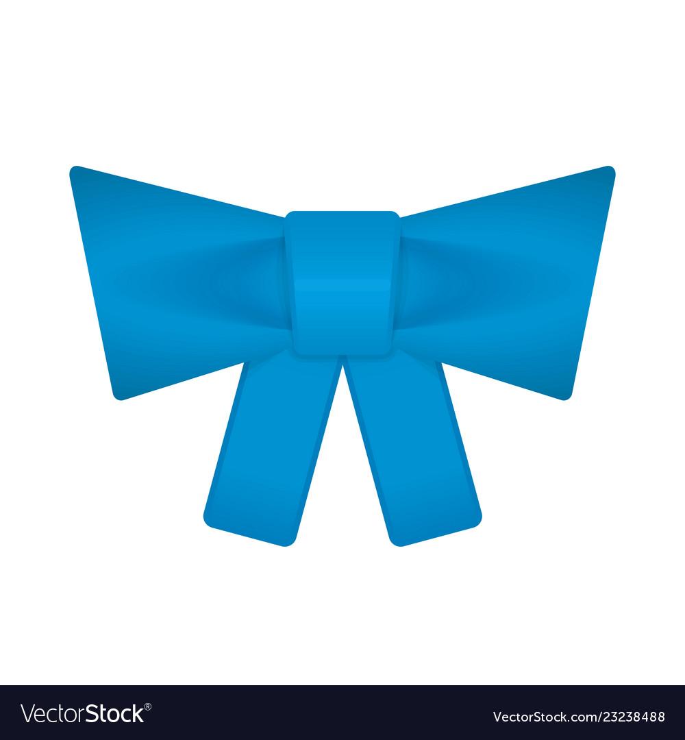 Decorative blue bow