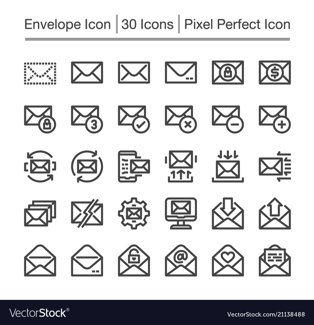 Envelope line icon