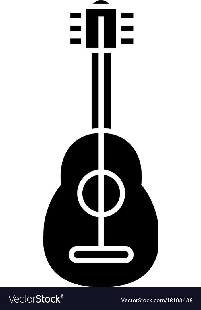Flamenco guitar icon black