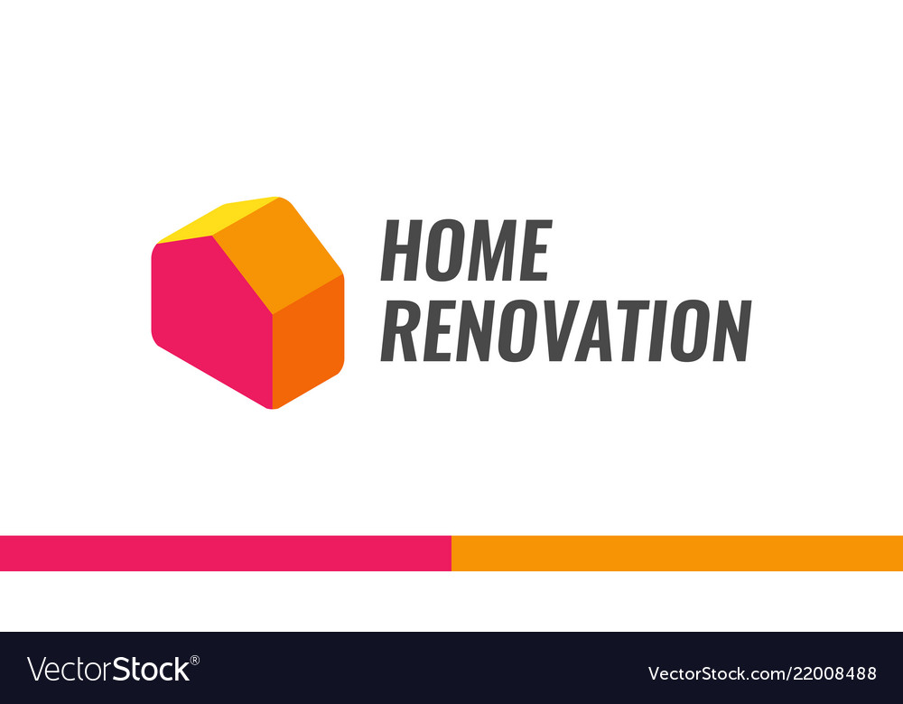 Home renovation logo for