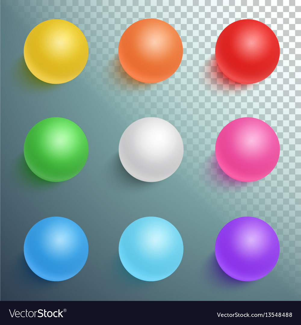 Photorealistic ball set template vector image