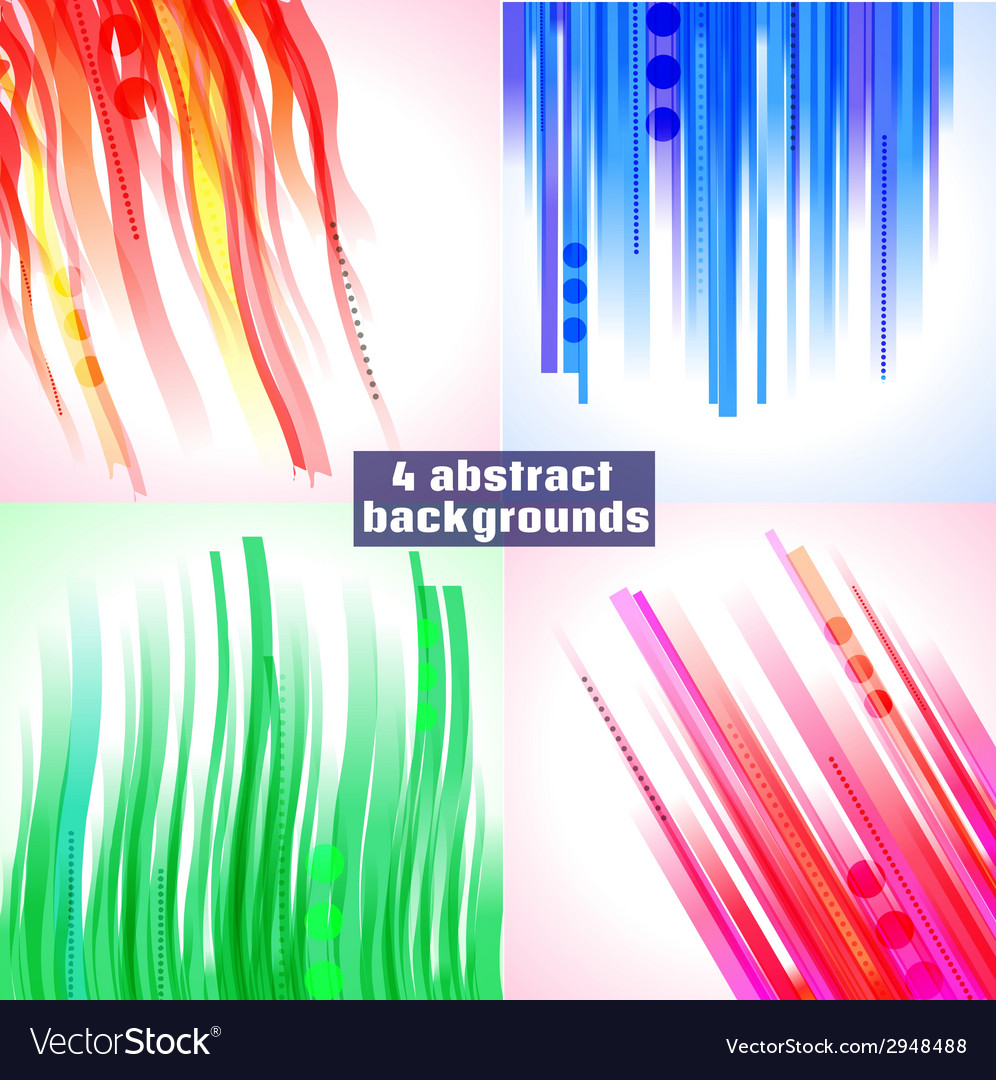 Set of 4 abstract backgrounds