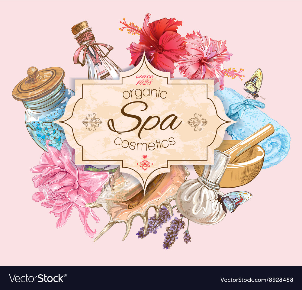 Tropic Style Spa Banner Royalty Free Vector Image