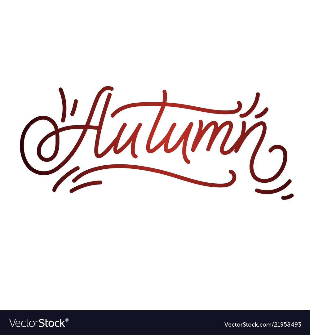 Autumn lettering hand written typography